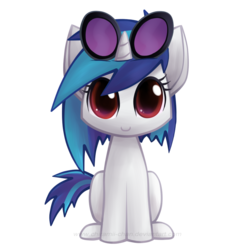 Size: 788x794 | Tagged: artist:chiramii-chan, c:, cat, catified, cute, dj pon-3, safe, simple background, solo, species swap, transparent background, vinyl scratch