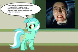 Size: 887x588 | Tagged: chalkboard, christopher lee, dracula, human studies101 with lyra, lyra heartstrings, meme, photo, safe, vampire