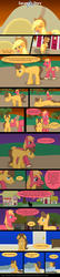 Size: 785x3625 | Tagged: safe, artist:despisedandbeloved, applejack, big macintosh, caramel, earth pony, pony, comic:caramel's story, carajack, comic, male, shipping, stallion, straight