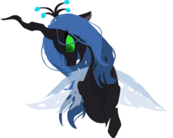 Size: 586x467   Tagged: safe, artist:ghost, queen chrysalis, changeling, changeling queen, bust, fangs, female, open mouth, simple background, smiling, solo, transparent background