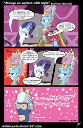 Size: 960x1478 | Tagged: artist:miroslav46, comic, crossover, rainbow dash, rainbow dash always dresses in style, rarity, safe, spy, team fortress 2, wig