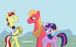 Size: 900x553 | Tagged: safe, artist:cartuneslover16, big macintosh, flim, twilight sparkle, earth pony, pony, female, male, shipping, stallion, straight, twiflim, twilight sparkle gets all the stallions, twimac