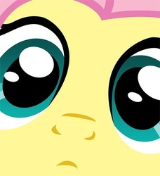 Size: 500x549 | Tagged: close-up, close up series, extreme close up, fluttershy, safe, solo, stare