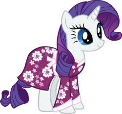 Size: 5760x5369 | Tagged: absurd res, artist:scrimpeh, clothes, female, kimono (clothing), mare, nightgown, pony, rarity, safe, simple background, transparent background, unicorn, vector