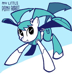 Size: 600x620 | Tagged: safe, artist:sukaponta, robot, crossover, jenny wakeman, my life as a teenage robot, pixiv, ponified