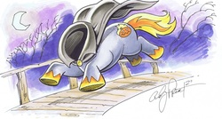 Size: 3537x1889 | Tagged: artist:andypriceart, bridge, headless, headless horse, safe