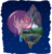 Size: 1122x1180 | Tagged: safe, artist:zmey-ishimura, canterlot, crystal caverns, floating island, force field, scenery, stars