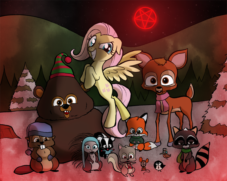 South Park Woodland Critter Christmas.43005 Artist Willdrawforfood1 Crossover Fluttershy