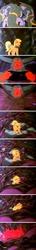 Size: 640x4400 | Tagged: safe, screencap, applejack (g1), lord tirek, tirek (g1), centaur, earth pony, pony, rescue at midnight castle, chains, collar, female, g1, male, mare, midnight castle guard, rainbow of darkness, tirac