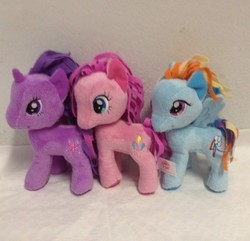 Size: 500x481 | Tagged: funrise, irl, photo, pinkie pie, plushie, rainbow dash, safe, toy, twilight sparkle