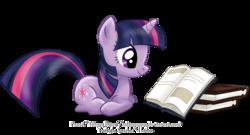 Size: 2400x1300   Tagged: safe, artist:tiffanymarsou, twilight sparkle, pony, unicorn, book, female, mare, prone, reading, smiling, solo, unicorn twilight