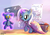 Size: 2400x1700 | Tagged: artist:blitzpony, artist:cutiepiethepony, female, filly, filly trixie, safe, solo, teddy bear, trixie, younger