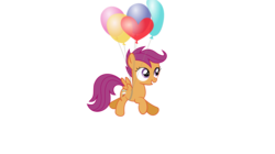 Size: 1366x768 | Tagged: safe, artist:tgolyi, scootaloo, alternate cutie mark, balloon, cute, cutealoo, scootaloo can't fly, simple background, solo, svg, transparent background, vector
