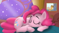 Size: 1900x1068 | Tagged: safe, artist:tgolyi, applejack, pinkie pie, sleeping, svg, vector