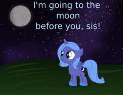 Size: 6768x5243 | Tagged: safe, artist:tgolyi, princess luna, pony, absurd resolution, cute, moon, night, solo, svg, vector, woona