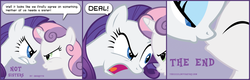 Size: 2560x820 | Tagged: safe, artist:thexxxx, rarity, sweetie belle, pony, unicorn, sisterhooves social, age difference, alternate scenario, bust, comic, dialogue, female, filly, gritted teeth, imminent kissing, incest, kissing, lesbian, looking at each other, mare, open mouth, parody, raribelle, scene parody, shipping, speech bubble