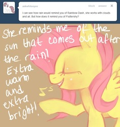 Size: 660x700 | Tagged: artist:dhui, ask tired pie, fluttershy, safe, tumblr