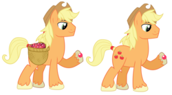 Size: 4009x2215 | Tagged: safe, artist:wicklesmack, applejack, earth pony, pony, the crystal empire, spoiler:s03, applejack (male), berry, crystal berries, crystal empire, hoof hold, magnetic hooves, male, rule 63, simple background, solo, stallion, transparent background, vector