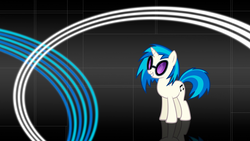 Size: 1920x1080 | Tagged: abstract background, artist:sirpayne, dj pon-3, safe, solo, vinyl scratch, wallpaper