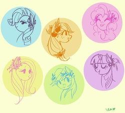 Size: 900x811 | Tagged: applejack, artist:emmy, fluttershy, mane six, pinkie pie, rainbow dash, rarity, safe, twilight sparkle