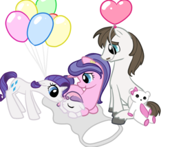 Size: 700x600 | Tagged: artist:otterlore, cookie crumbles, cookieflanks, family, filly, foal, hondo flanks, newborn, rarity, safe, simple background, sweetie belle, transparent background