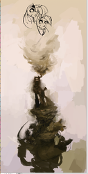 Size: 330x651   Tagged: safe, artist:shemhamferosh, princess luna, twilight sparkle, badass, dead space