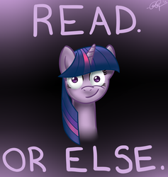 Size: 1800x1900 | Tagged: safe, artist:docbullet, twilight sparkle, read