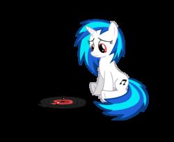 Size: 5000x4079   Tagged: safe, artist:ninjamissendk, dj pon-3, vinyl scratch, pony, unicorn, absurd resolution, cutie mark, female, hooves, horn, mare, simple background, sitting, solo, transparent background, vector