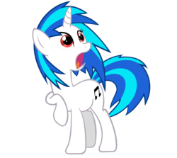 Size: 5000x4463   Tagged: safe, artist:ninjamissendk, dj pon-3, vinyl scratch, pony, unicorn, absurd resolution, cutie mark, female, hooves, horn, mare, open mouth, simple background, solo, transparent background, vector