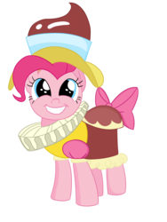 Size: 1500x2000 | Tagged: artist:dragonfoorm, brilliant face, chancellor puddinghead, pinkie pie, safe, simple background, solo, transparent background