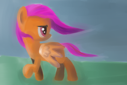 Size: 1536x1024 | Tagged: artist:khyperia, safe, scootaloo, solo