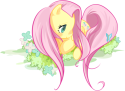 Size: 5064x3696 | Tagged: artist:khyperia, fluttershy, safe, simple background, solo, svg, transparent background, vector