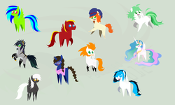 Size: 900x540 | Tagged: dead source, safe, artist:turrkoise, princess celestia, oc, bbbff, pointy ponies
