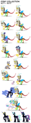 Size: 900x3600 | Tagged: safe, artist:mixermike622, bon bon, derpy hooves, discord, lyra heartstrings, nightmare moon, princess celestia, sweetie belle, sweetie drops, zecora, alicorn, draconequus, pegasus, pony, unicorn, zebra, alicornified, applejack's hat, bonicorn, clothes, cowboy hat, crossdressing, derpicorn, female, filly, fishnets, hat, lyracorn, male, mare, nightmare bonbon, nightmare derpy, nightmare lyra, nightmarified, race swap, raised hoof, saloon dress