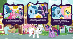 Size: 750x401   Tagged: safe, screencap, fluttershy, pinkie pie, twilight sparkle, oc, adventures in ponyville, not rarity, official, recolor