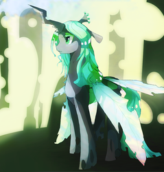 Size: 790x827 | Tagged: artist:pikachu344, queen chrysalis, safe, solo