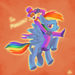Size: 1200x1200 | Tagged: artist:docwario, crossover, rainbow dash, safe, superjail, warden