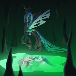 Size: 2000x2000 | Tagged: artist:adailey, princess cadance, queen chrysalis, safe, shining armor