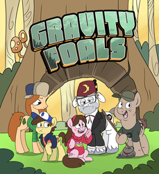 Size: 734x800 | Tagged: artist:spainfischer, dipper pines, gravity falls, grunkle stan, mabel pines, ponified, safe, soos, wendy corduroy