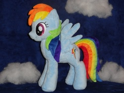 Size: 640x480 | Tagged: safe, artist:whitedove-creations, rainbow dash, irl, photo, plushie, solo