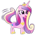 Size: 1024x1024 | Tagged: safe, artist:foxtail8000, princess cadance, alicorn, dog, pony, .svg available, behaving like a dog, female, mare, simple background, solo, transparent background, vector, wat