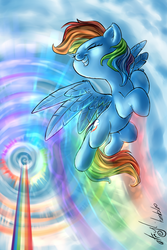 Size: 800x1200 | Tagged: safe, artist:atryl, rainbow dash, solo, sonic rainboom