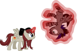 Size: 7500x5049 | Tagged: safe, artist:fehlung, oc, oc only, oc:akira, oc:stormy, alicorn, pegasus, pony, zebra, zebrasus, absurd resolution, bow, female, hair bow, magic, mare, simple background, transparent background