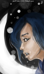 Size: 356x600 | Tagged: artist:scorpiordinance, humanized, human luna, piercing, princess luna, safe, solo