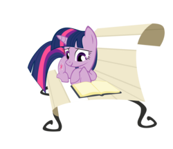 Size: 2397x2073   Tagged: dead source, safe, artist:sierraex, twilight sparkle, pony, unicorn, blank book, book, female, high res, lying down, mare, prone, reading, simple background, transparent background, vector