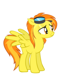 Size: 1591x2000   Tagged: dead source, safe, artist:sierraex, spitfire, pegasus, pony, female, goggles, loose hair, mare, simple background, solo, transparent background, vector