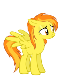 Size: 1591x2000   Tagged: dead source, safe, artist:sierraex, spitfire, pegasus, pony, female, loose hair, mare, simple background, solo, transparent background, vector