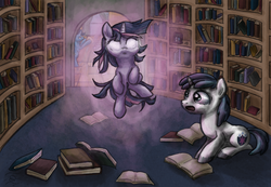 Size: 3900x2700 | Tagged: safe, artist:quintessantriver, night light, shining armor, twilight sparkle, book, filly, high res, young