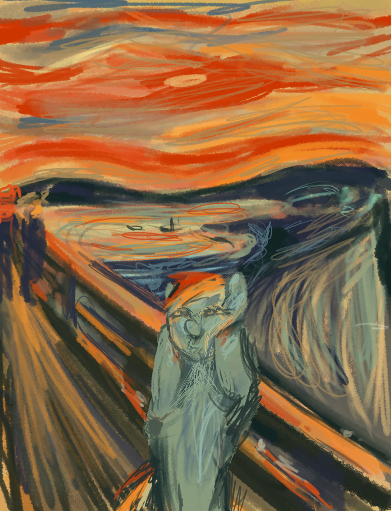 Edvard Munch The Scream Parody Edit the filter or switchThe Scream Edvard Munch Parody