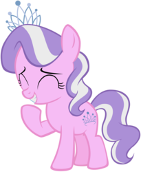 Size: 3216x3928 | Tagged: artist:liggliluff, diamond tiara, eyes closed, female, filly, high res, laughing, pony, safe, show accurate, simple background, solo, transparent background, vector